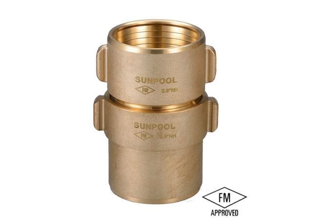 2.5 FM Brass Fire Hose Coupling