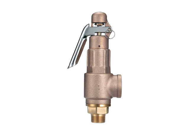 AL3-LP Bronze Safety Valve with Lever & PTFE Seal-Different Inlet & Outlet Dia.